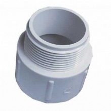 "2"" White ABS Socket Nipple"